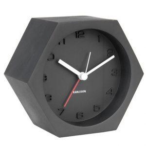 Time for home Černý betonový budík Cantis