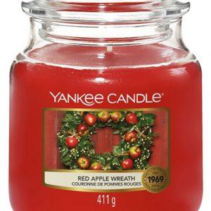 Střední vonná svíčka Yankee Candle Red Apple Wreath