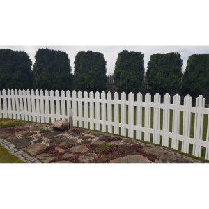 Aldotrade Zahradní plůtek Mega bílá